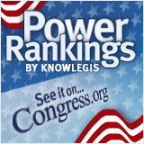 Power Rankings by Knowlegis: See it on Congress.org